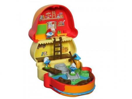 Смурфики. Маленький Домик с мини фигуркой красный домик папы смурфа