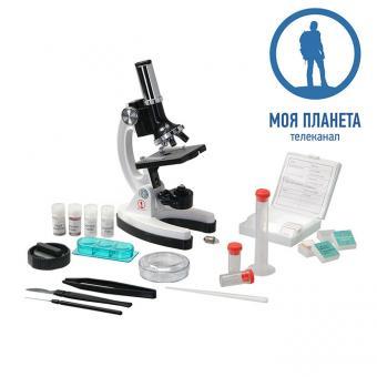 Микроскоп Моя Планета 100x-900x в кейсе