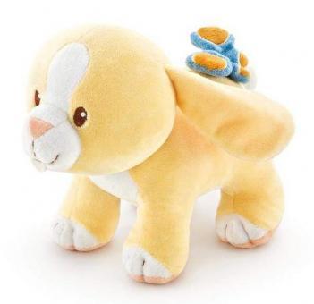 Мягкая игрушка Желтый зайчик с вибрацией, 19см