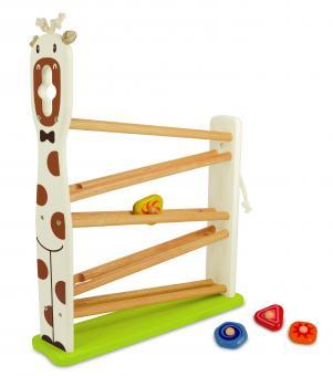 Игрушка  Жираф   со скатывающимися шариками - деревянная
