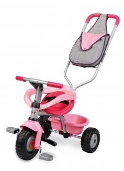 Трехколесный велосипед Pilot Voyager розовый с сумкой и ручкой