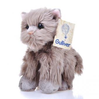 Мягкая игрушка Серый котик пушистик, 23 см