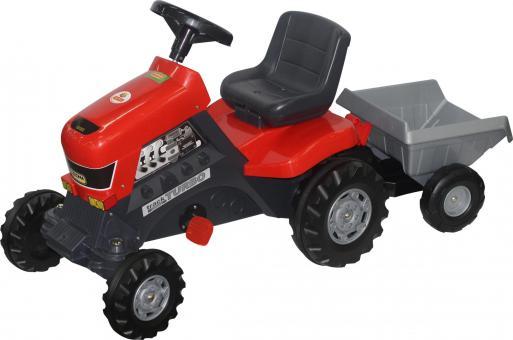 Трактор с педалями Turbo с полуприцепом