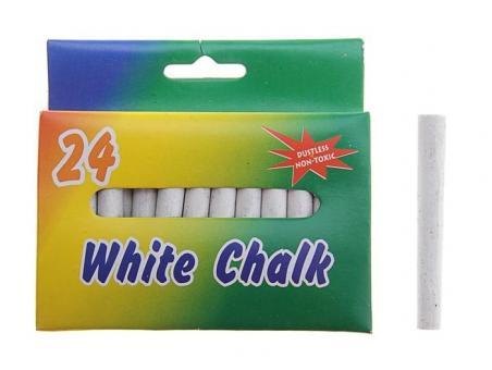 Мел белый Школьный 24 шт.