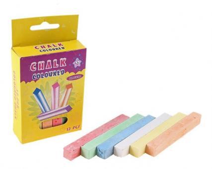 Мел школьный цветной 12 штук