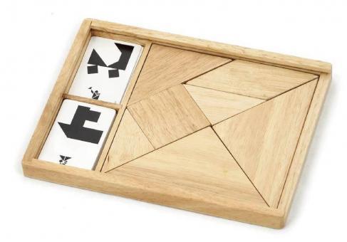 Настольная игра - головоломка Танграм деревянный