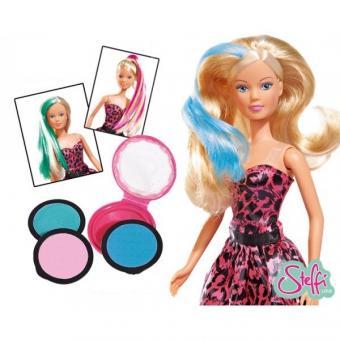 Кукла Штеффи с мелками для окрашивания волос