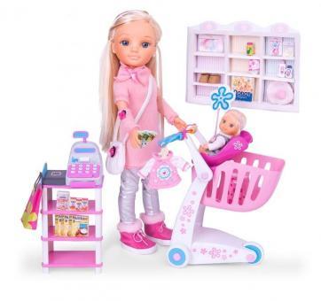 Кукла Нэнси с сестренкой идет за покупками
