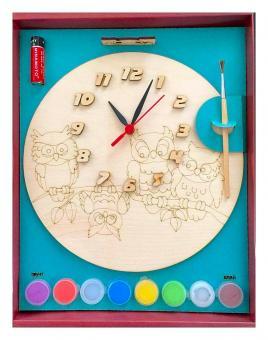 Часы с циферблатом под роспись Совыс красками