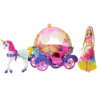Набор кукла Barbie и радужная карета Dreamtopia