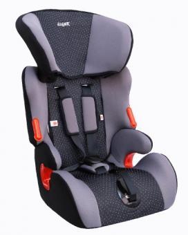 Детское автомобильное  кресло  SIGER Космо груп. 1-2-3  серый