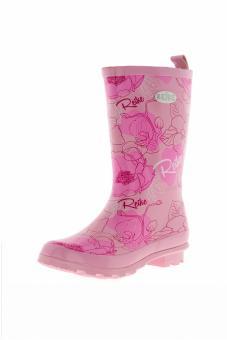 Резиновые сапоги детские розовые