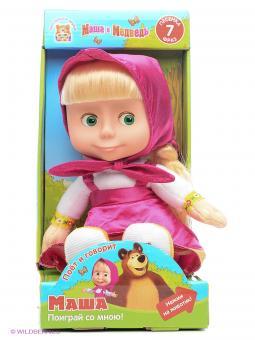 Мягкая игрушка Маша пластиковое лицо (м/ф М/М) (7фраз+песенка)