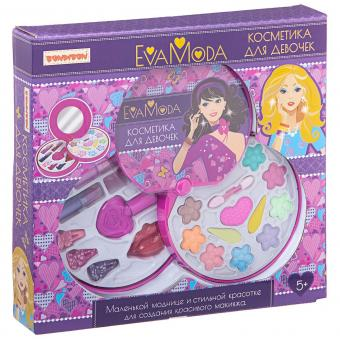 Eva Moda Косметичка-диск с набором детской декоративной косметики