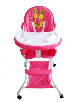 Стульчик для кормления Vivian розовый
