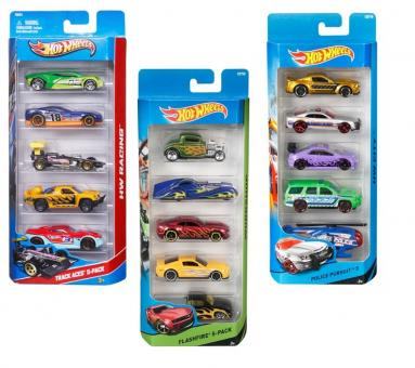 Hot Wheels Подарочный набор из пяти машинок