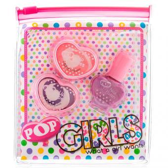 POP Игровой набор детской декоративной косметики для губ и ногтей