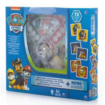 Игровой набор 2-в-1 - игра с кубиком и фишками + карточки Memory Щенячий Патруль