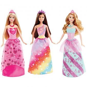Barbie  Куклы-принцессы розовая юбка