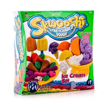 Набор для творчества Skwooshi Мороженое - масса для лепки и аксессуары