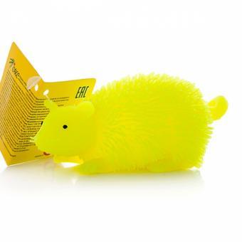 Игрушка фигурка мышь с резиновым ворсом с подсветкой