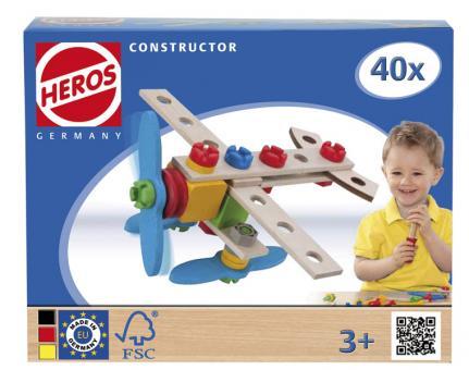 Конструктор Самолет, 2 варианта сборки, 40дет.