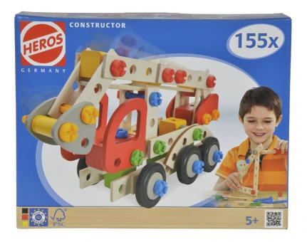 Конструктор Пожарная машина, 3  варианта сборки, 155дет.