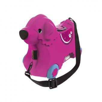 Детский чемодан на колесиках, розовый