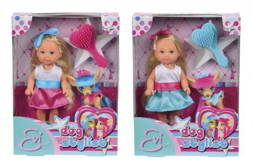 Кукла Еви со стильной собачкой 12 cм, 2 вида