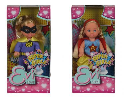Кукла Еви в костюме супергероя, 2в., 12 см