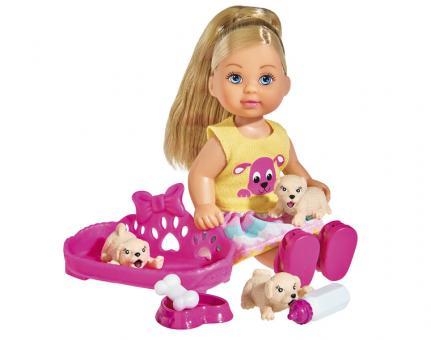Кукла Еви с собачками, 12 см