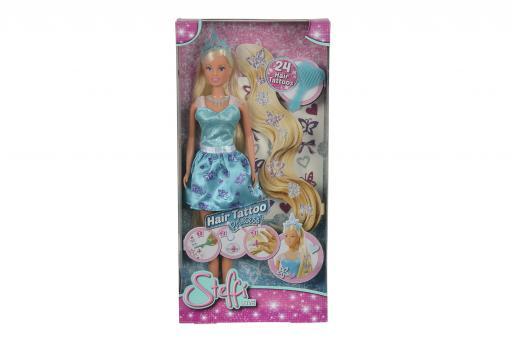 Кукла Штеффи с наклейками для волос, 29 см