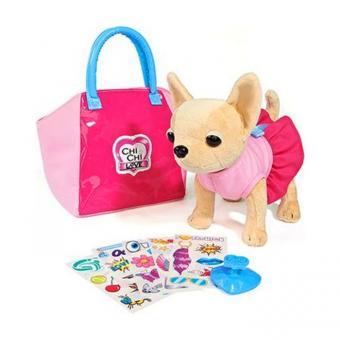 Плюшевая собачка Chi Chi Love Чихуахуа 20 см с сумочкой и набором для создания собственного дизайна