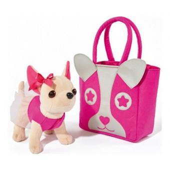 Chi Chi Love Плюшевая собачка Чихуахуа с розовой сумкой