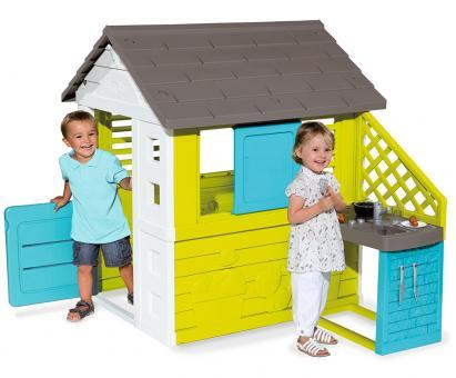 Игровой домик с кухней, синий