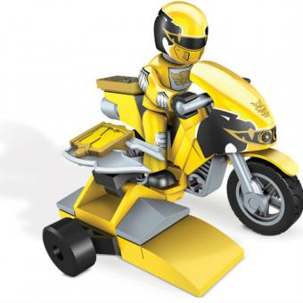 Мини-набор Могучие рейнджеры на мотоцикле, желтый