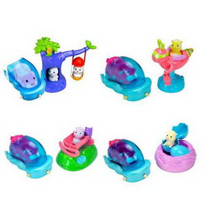Игровой набор с движущей машинкой Zhu Zhu Babies (гнездо,колыбель,карусель,качели)