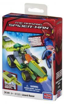 Транспортное средство с пусковым устройством + фигурка Spider-Man 4, Lizard Racer