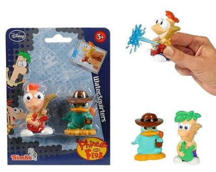 Фигурки брызгалки Phineas&Ferb, 7 см