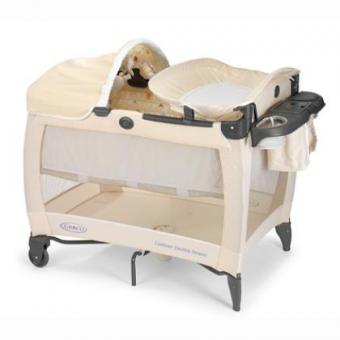 Детский манеж- кроватка Graco Electra Deluxe бежевый