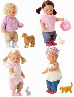 Кукла и животное на ферме my mini BABY born