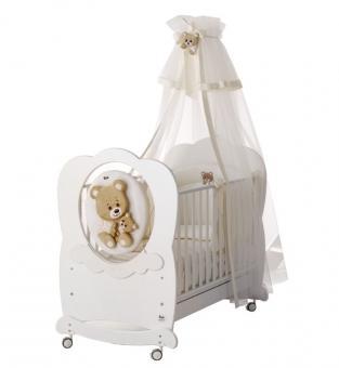 Детская кровать ABBRACCI by TRUDI белый белый/серебро