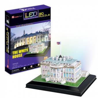 3D Пазл Белый дом с иллюминацией  (Вашингтон)