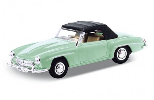 Модель винтажной машины 1:34-39 Mercedes Benz 190SL 1955