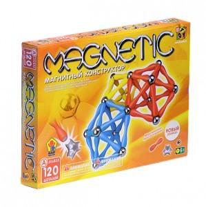 Конструктор магнитный Магнетик 120 дет. коробка