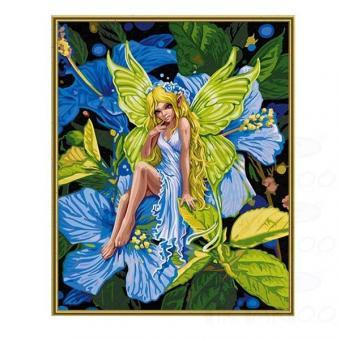 Раскраска по номерам. Цветочный эльф, 40х50 см