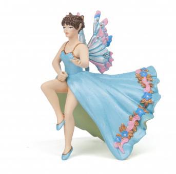 Фигурка Эльфа-наездница  голубая, 9 см