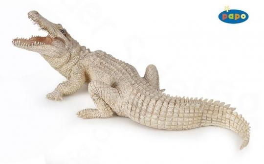 Фигурка Белый крокодил, 21 см