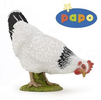 Фигурка Клюющая белая курица