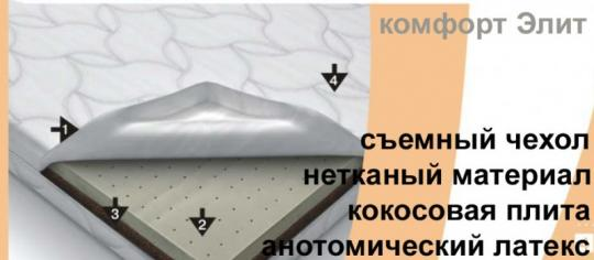 Матрас в кроватку Комфорт-Элит ( 60х119 )